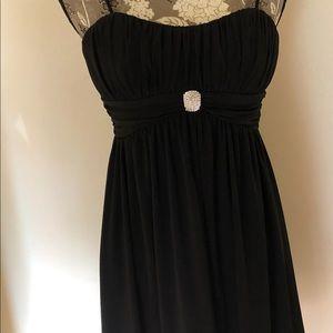 Black spaghetti straps cocktail dress in size XS